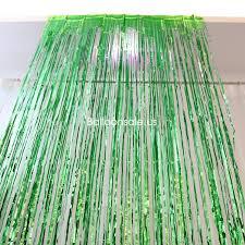 buy green metallic foil fringe door curtain 2 4m party door
