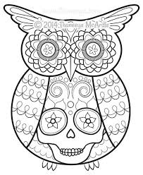 Day Of The Dead Coloring Book Fabulous