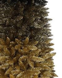 75 Flocked Christmas Tree by Black Gold Ombre Christmas Tree Treetopia