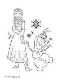 Print And Color This Amazing Picture Of Princess Anna Her Friend Olaf Enjoy
