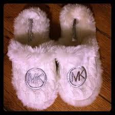 women s michael kors fluffy slippers on poshmark