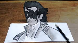 How To Draw Super Hero Krish In 3D