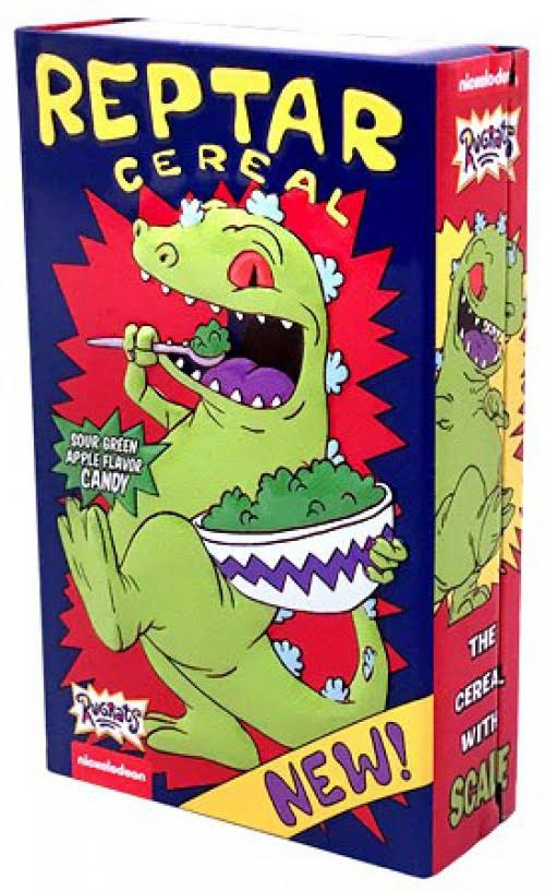 Nickelodeon's Rugrats Reptar Cereal Candy - Sour Green Apple, 1.2oz