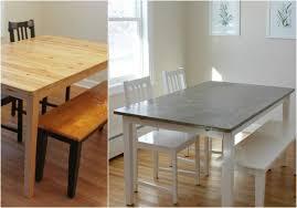 holz esstisch aufpeppen tischplatte in betonoptik