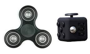 Fidget Bundle Spinner And Cube 2 Piece