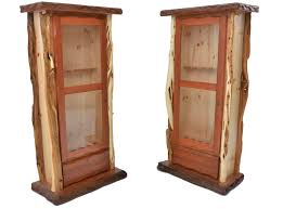Rustic Redwood And Juniper Gun Cabinets