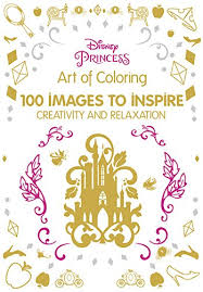 Disney Adult Coloring Books Art Of Princess 100 Images To