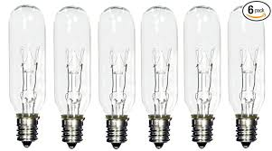 pack of 6 15t6 15 watt tubular light bulb candelabra e12 base
