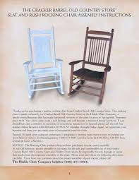 100 Hinkle Southern Rocking Chairs THE CRACKER BARREL OLD COUNTRY STORE ROCKING CHAIR ASSEMBLY
