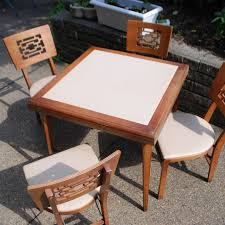 MCM Stakmore Folding Table/chairs Asian Look Antique Stakmore Louis Rastter Sons Folding Wooden Leather Chairs Set Of 7 1940 Wood Related Keywords Suggestions Midcentury Retro Style Modern Architectural Vintage French Cane Back 6 Mid Century Camping Table And Sante Blog Aptdeco Folding Chairs Are Ideal For Accommodating Extra Details About Chippendale Chair 2 3