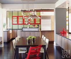 Open Kitchen Red Accents