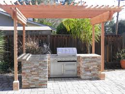kitchen amazing outdoor kitchen decoration using light brown