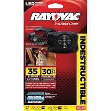 rayovac industrial 50 lumens headlight led aaa black diyhl3aaa