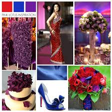 Red Blue Purple Wedding Inspiration Pink Lotus Events