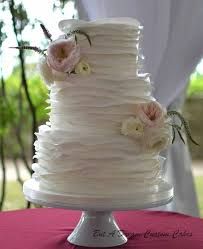Romantic Soft Ruffle Wedding Cake On Central More