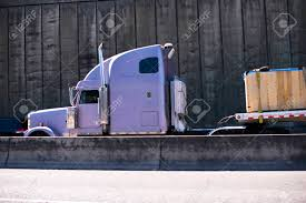 Lilac Great Classic Bonneted Big Rig Semi Truck With Trailer And ... Bright Red Power Classic American Big Rig Semi Truck With Tall Side Exhaust Pipes Stock Photos Images Semi Straight Exhaust Sound Youtube Best Deal Spring Truck Parts Heavy Duty Trucks Stacks For Lilac Great Classic Bonneted Big Rig With Trailer And Professional Classical Bonnet Red Semitruck A Long Cab Married Mobile Replacing Smokestack Black Bonnet Powerful Stylish Stylish High Pipes Transporting Oversize