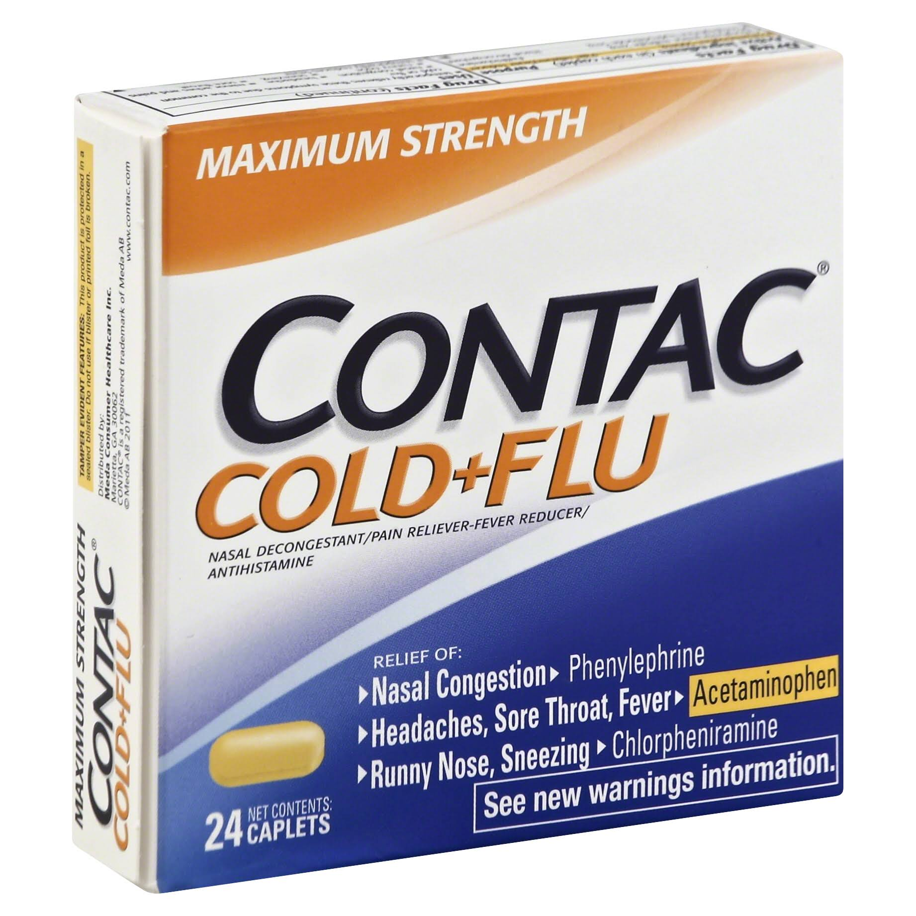 Contac Cold+Flu Night - 24 Night Caplets