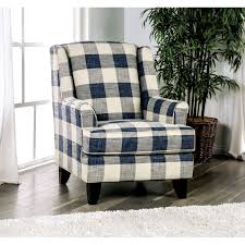 McCallan Transitional Blue And White Plaid Accent Chair By FOA Black And White Buffalo Checkered Accent Chair Home Sweet Gdf Studio Arador White Plaid Fabric Club Chair Plaid Chairs Living Room Jobmailer Zelma Accent Colour Options Farmhouse Chairs Birch Lane Traemore Checker Print Blue By Benchcraft At Value City Fniture Master Wingback Wing Upholstered In Tartan Contemporary Craftmaster Becker World Iolifeco Dorel Living Da8129 Middlebury Checkered Pattern