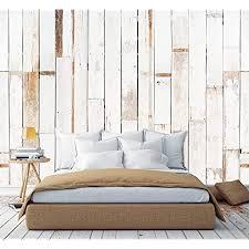 murimage fototapete holzoptik vintage weiß 3d 274 x 254cm inklusive kleister tapete natur bambus schlafzimmer