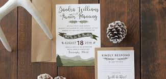 Boho Mountain Rustic Wedding Invite Calgary