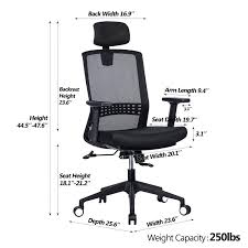 100 Heavy Duty Office Chairs With Removable Arms Amazoncom VANBOW Ergonomic High Back Mesh Chair