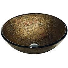 vigo mediterranean seashell glass vessel sink and faucet set in