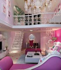 Pink Bedroom I Want That All In My Room Why Cant Bedrooms Be Big Its What It Would Like To The Barbie Dream House