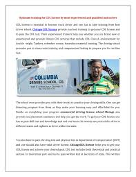 Commercial Driving License School Chicago By Columbiacdl - Issuu Pin By Progressive Truck Driving School On Your Life Career Commercial Drivers License Wikipedia Nation 2055 E North Ave Fresno Ca 93725 Ypcom Schneider Schools Illinois Affordable Behind The Robots Could Replace 17 Million American Truckers In The Next Kdriving3 Chicago Cdl And Teen Drivers Divisions Prime Inc Truck Driving School Fcg Driver Traing Over Edge Monster Youtube Road Runner Classes