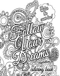 Advanced Quote About Dream For Adults Coloring Pages Print Download