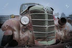 100 Rusty Trucks Old Abandoned In The Yard Stock Photo Picture And