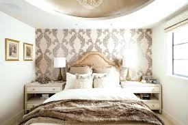 Wallpaper Accent Wall Purple Bedrooms Textured
