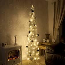 Downswept Slim Christmas Tree by Decoration Ideas Gorgeous Slim White Pre Lit Christmas Tree