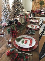 Gorgeous Plaid Guest Table Spread From A Vintage Rustic Christmas Party On Karas Ideas