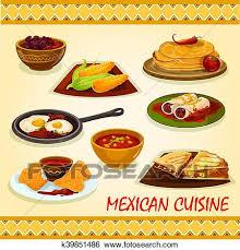 cuisine mexicaine clipart cuisine mexicaine épicé plats icône k39851486