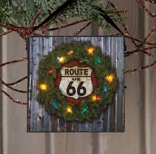 Raz Christmas Trees Wholesale by Route 66 Wall Art With Battery Powered Lights