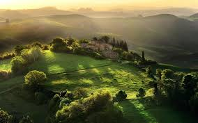 Tuscany Field Sunlight Landscape Hill Italy Wallpaper And Background