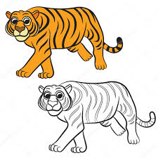 Tigre Blanc Pastels Encequiconcerne Dessin De Tigre Blanc