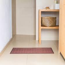 bambus badvorleger badteppich braun 100 80cm
