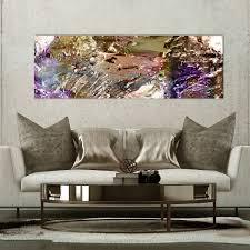 vlies leinwand bilder abstrakt gold lila bild wandbilder