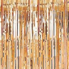 Foil Fringe Curtain Nz by Rose Gold Foil Fringe 2 4 Metres U2013 Partiesmadeprettynz