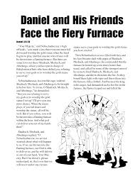 Great Daniel And The Fiery Furnace Coloring Pages With Shadrach Meshach Abednego Page