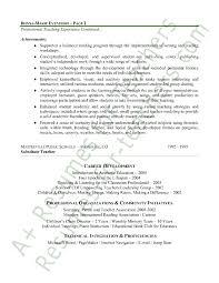 Teacher Resume Examples Elementary