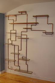 awesome modern wall mounted shelf design ideas with white wall and