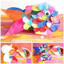 Tissue Paper Rainbow Fish