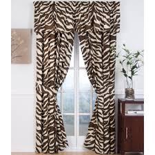 Zebra Curtain by Zebra Curtain Panel Set By Kimlor