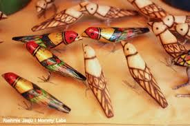 Handmade Birds Paper Mache