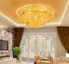 gold runde le deckenleuchte moderne einfache wohnzimmer kristall le villa hotel restaurant schlafzimmer kuchen licht für schlafzimmer beleuchtung