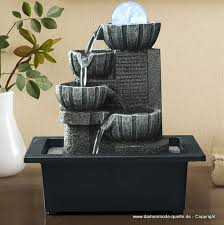 wasser brunnen mit led wohnzimmer tisch dekoration