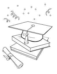 Free Graduation Coloring Page