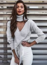 v neck halter turtleneck knit pullover sweater dress azbro com